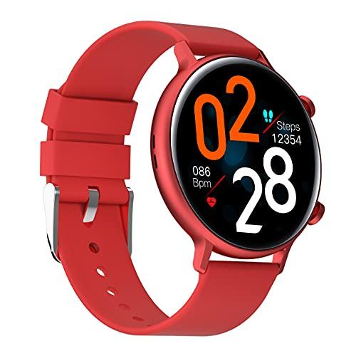 Relojes inteligentes para hombres y mujeres, pantalla táctil completa de 1.28 ', reloj inteligente para teléfonos Android y teléfonos iOS, IP68 a prueba de agua, reloj inteligente que puede reproduc