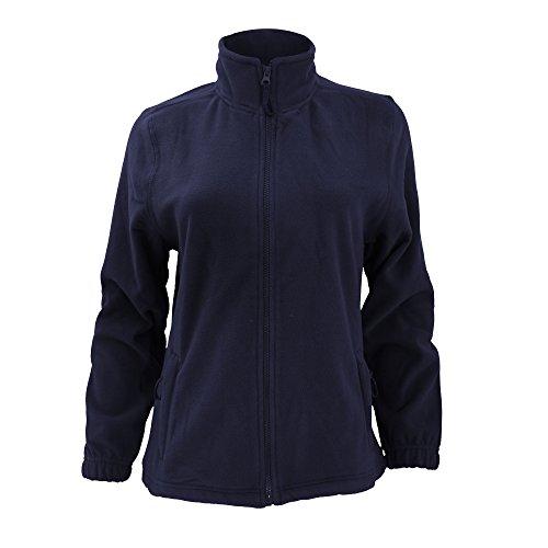 SOLS North - Veste polaire à fermeture zippée - Femme (XL) (Bleu marine)