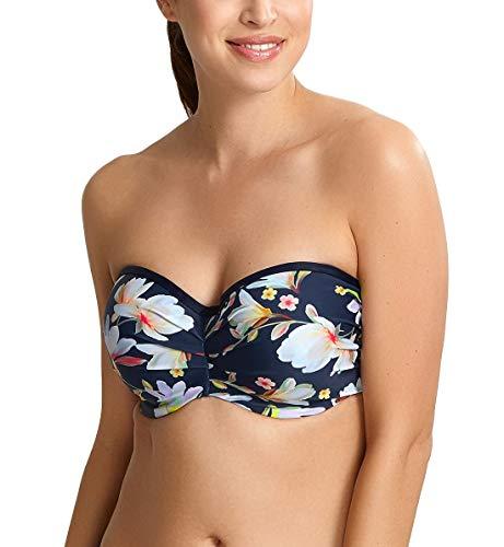 Panache Women's Florentine Contour Bandeau Underwire Bikini Top SW1053 32G Navy Floral