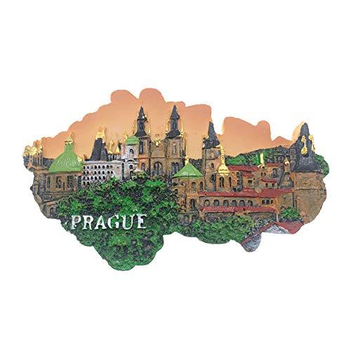 Weekino Praga Checa Imán de Nevera 3D Resina de la Ciudad de Viaje Recuerdo Colección de Regalo Fuerte Etiqueta Engomada refrigerador