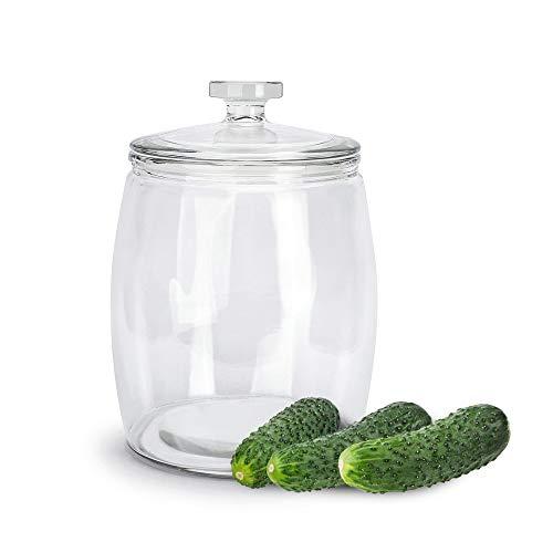 Tadar Einmachglas 9,5 L aus Glas Vorratsglas Einweckglas Gurkenglas Vorratsdose Aufbewahrungsglas Gewürzglas mit Deckel Groß Klar Durchsichtig BEE