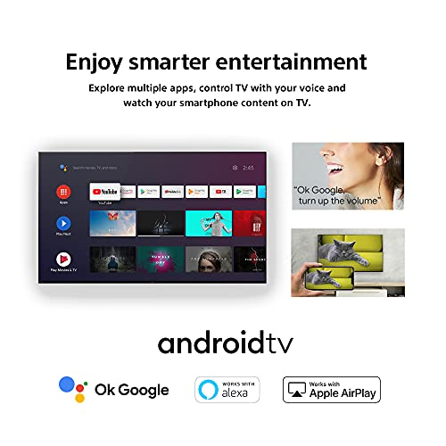 Sony Bravia 108 cm (43 inches) 4K Ultra HD Smart Android LED TV KD-43X74 (Black) (2021 Model) | with Alexa Compatibility