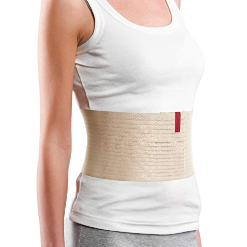 "ORTONYX 6.25"" Abdominal Binder for Men and Women/Postpartum Post-Operative Post-Surgery Wrap/Abdomen Navel Umbilical Hernia Support Belt / 524006 Beige L/XXL"
