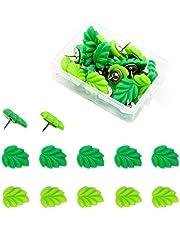 YMDZ 20 Pcs Groene Bladvorm Punaise Meubels Decoratieve Kopspijkers Voor Bank Stoel Bed en Ander Meubilair