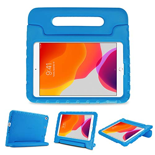 """ProCase Kids Case for iPad 10.2 9th Gen 2021 / 8th Gen 2020 / 7th Gen 2019 / iPad Air 10.5"""" 2019 / iPad Pro 10.5, Shockproof Convertible Handle Stand Cover Light Weight Kids Friendly Case -Blue"""