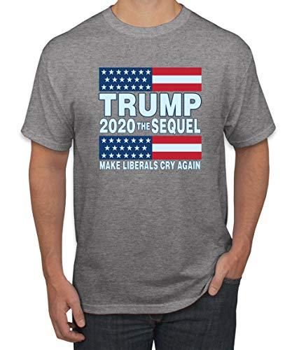 Wild Bobby Trump 2020 Make Liberals Cry Again MAGA Election | Mens Political Graphic T-Shirt, Heather Grey, Medium