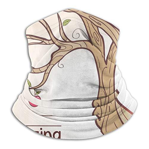 N/A Windproof and Dustproof Mask Balaclava Helmet Headdress Sunscreen Neck Warm Headband Mask Tree Apple