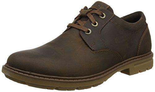 Rockport Tough Bucks Plain Toe Oxford 2, Zapatos de Cordones Hombre, Marrón (Tan), 40.5 EU