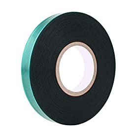 """Easytle Stretch Tie Tape Roll, 1/2"""" 150ft Garden Tie Tape, Thick Sturdy Plant Ribbon Garden Green Vinyl Stake Gardening Tools for Indoor Outdoor Patio Plant Use 2 ★STRETCHY - 150ft 1/2"""" wide green tie tape roll. Vinyl tape used for training and staking plants. The most awesome feature is that when tie back a plant, the garden tie tape stretches with it as the plant grows. The tape roll also doesn't fade, crack, tear, or in any other way be affected by the weather. ★LONG LASTING - Stretch Tie Tape Roll is made with great material, lightweight, stretchy, NON-sticky, translucent plastic tape. Perfect for milkweed, asters, and tomatoes. Doesn't damage the stems if tied properly. ★PERFECT GARDENING TOOLS - Green ribbon stretches with plant growth, provide a variety of options for applications of plants in any location. Stretch Tie Tape Roll is kind of bright green so will be more obvious and harder to hide from sight in the garden but wouldn't use any other kind of tie."""