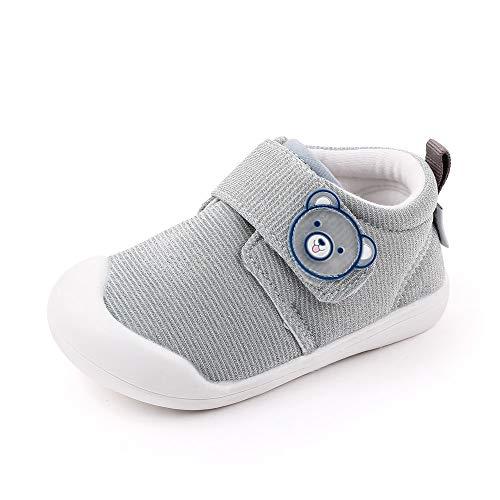 Zapatos Bebe Niño Primeros Pasos Zapatillas Deportivas Bebé Recién Nacido Gris Talla 21