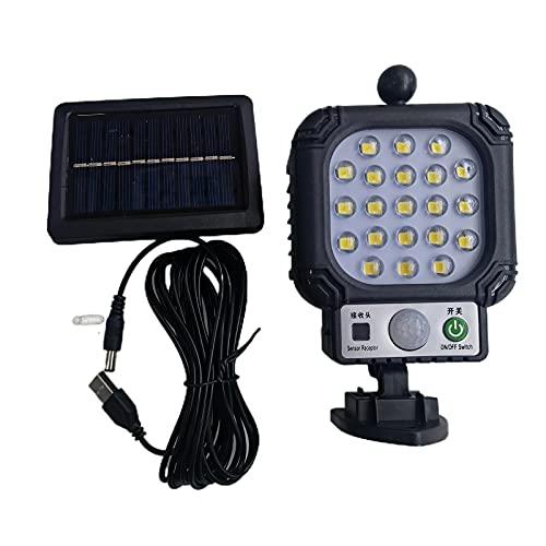 Luci Solari Esterno, LED Lampada da parete con 3 modalità di illuminazione e Batteria integrata da 1200 mAh, Impermeabile IP65, Lampada decorativa per Giardino, Natale, Patio, Cancello, Cortile