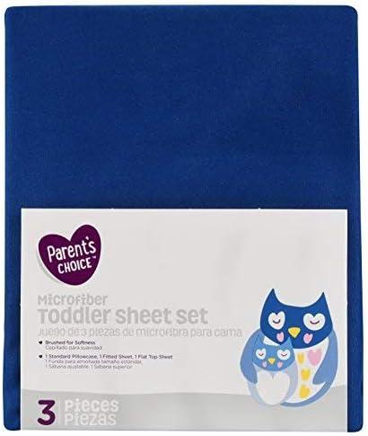 Parent's Choice Toddler Sheet Set 3 Blue Navy NEW Piece Free Shipping Cheap Bargain Gift