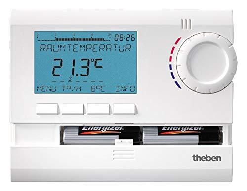 Theben RAMSES 811 top2 digitales Uhrenthermostat mit Tages-, Wochen- und Ferienprogramm (8119132) Batterieversion
