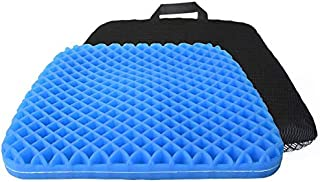JEBBLAS Gel Seat Cushion - Durable, Portable Office Chair Car Seat Cushion Supports Lower Back, Tailbone, Spine, Hips | Pr...
