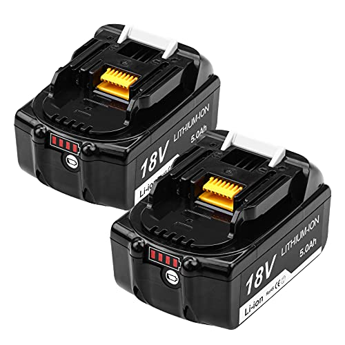 Kengdor 2X BL1850B 5.0 Ah Sostituzione per Makita 18V Batteria BL1860 BL1850 BL1840 BL1830 BL1815 BL1845 LXT400 Utensili Elettrici a Batteria con indicatore