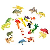 HEEFEN 24 Unids Figuras de Rana de Plástico Juguete Animal Marino 6 cm Goldfish...