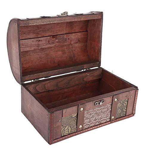 Vcriczk Caja organizadora de joyería, Caja organizadora de Madera de Gran Capacidad para joyería, Estilo Europeo Teme Bars Tiendas de Ropa Estudios para almacenar Joyas y Cosas pequeñas(Rota)