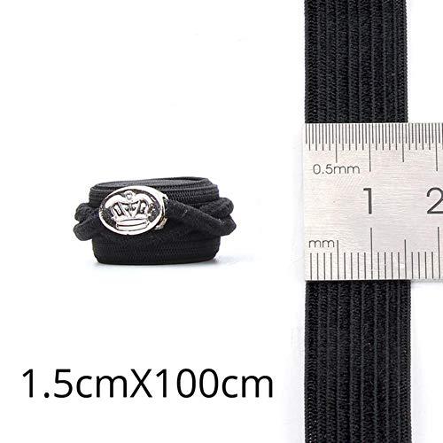 Bande élastique réglable pour Perruques Faisant des matériaux Bande de poignée de Perruque Noire pour Coudre # 50,3.5CM 5pcs