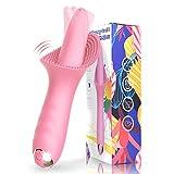 Klitoris Vibratoren für sie, G-Punkt Vibratoren Zunge lecken Stimulation der Klitorisnippel 10 Vibrationsmodi Sexspielzeug für Frauen Oralsex Paare Solo Blowjob Orgasmus Erotik Vaginal Massagegerät