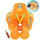 Flotador de Natación para Bebés con Asiento Anillo,Bebé Recién Nacido Aprende a Nadar Entrenador Inflable Flotador Ajustable para Piscinas para Bebés,Anillo de Natación para Bebés (3-12 Meses,S)