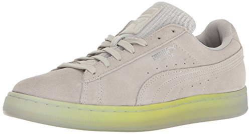 PUMA Suede Classic Explosive Chaussures de Sport pour Homme Noir - Violet - Gris Violet Sécurité Jaune, 40 EU