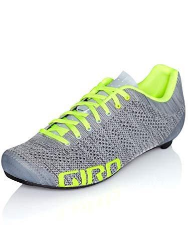 Giro Empire E70 Knit Road, Zapatos de Ciclismo de Carretera Hombre, Multicolor (Grey Heather/Highlight 000), 43 EU