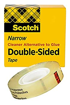 Scotch Double Sided Tape 1/2 in x 900 in Permanent 1/Pack  665