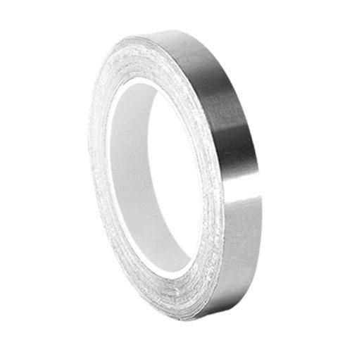 TapeCase 0,25-3-3361 Silberfarbenes Hochtemperatur-Klebeband aus Edelstahl/Acryl, 0,6 cm x 0,9 m Rolle, 0,00 38 cm Dicke, 7,6 cm Länge, 0,25 cm Breite.