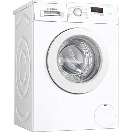 Bosch WAJ24006GB Serie 2 Freestanding Washing Machine, 7kg load, 1200rpm spin - White