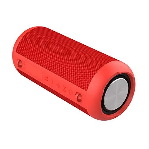 JUNPE Altavoz Bluetooth 5.0 Ponente inalámbrico al Aire Libre portátil 3600mAh 12 hrs Playtime para el hogar de Viaje al Aire Libre (Color : Red)