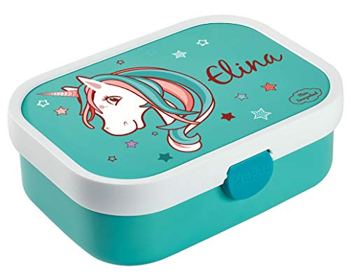 Mein Zwergenland Brotdose Mepal Campus mit Bento Box und Gabel mit eigenem Namen Einhorn Beauty...