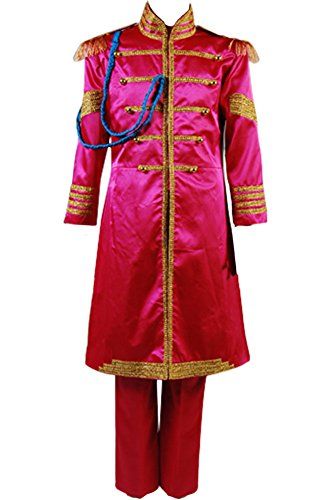 Cosplaysky The Beatles SGT. Pepper's Lonely Hearts Club Ringo Starr Costume Medium Rose Red