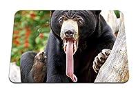 22cmx18cm マウスパッド (クマの舌の色驚き長い舌) パターンカスタムの マウスパッド