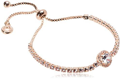Anne Klein Classics Rose Gold Pave Center Stone Slider Bracelet, One Size