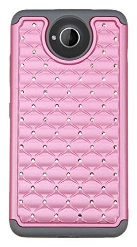 Asmyna Schutzhülle für Microsoft Lumia 650, in Einzelhandelsverpackung, Grau/Pink