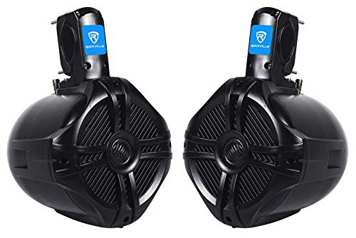 Rockville RWB65B Pair 6.5' Black 2 Way 250 Watt Marine Wakeboard Tower Speakers