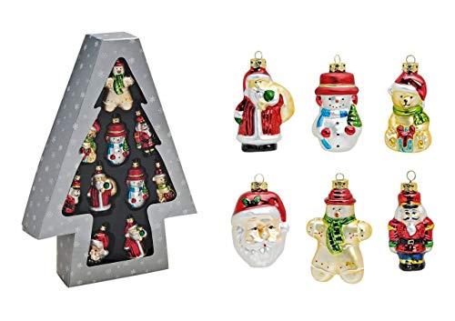 Tannenbaumschmuck Christbaumschmuck 10-teilig Nussknacker, Schneemann, Tannenbaum, Nikolaus, Weihnachtsbär