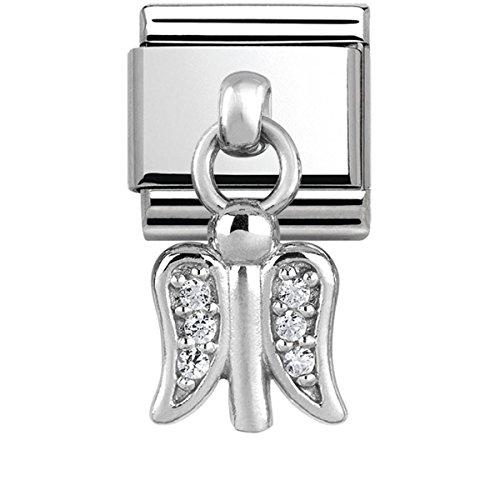 Nomination Damen-Charm 925 Silber Zirkonia weiß - 331800/11