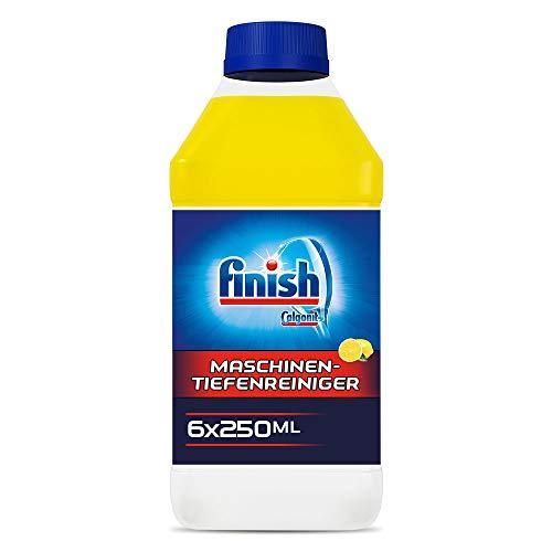 Finish Maschinentiefenreiniger Citrus – Flüssiger Maschinenreiniger gegen Kalk und Fett für eine saubere Spülmaschine – Sparpack Maschinenpfleger mit Zitronenduft, 6er Pack (6 x 250 ml)
