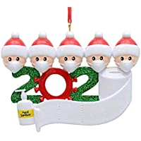 Decdeal Personalized Name Christmas Ornament Kit With Mask (Family Of 5)