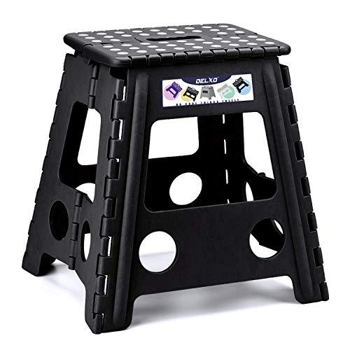HOUSE DAY Tritthocker Klappbar Klapphocker Faltbar H40cm Tüv geprüft für Kinder Erwachsene Bade Küchen