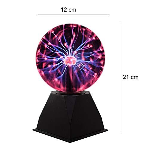 Bola de plasma mágica flashes Plasma Ball Bombilla Mini bombilla bola Leuchten Tija de para niños decoración dormitorio hogar y regalos ánimo luces noche luces Repetición Leuchten Plasma bola