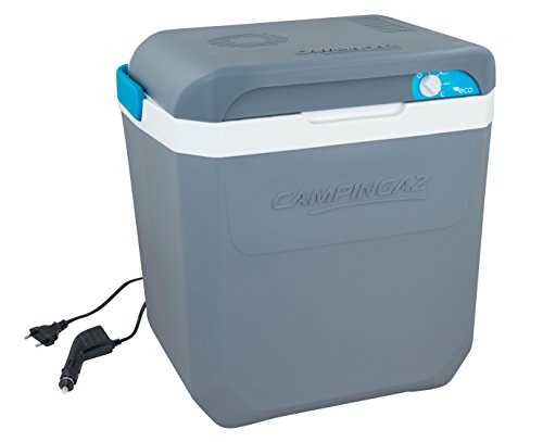 Campingaz Powerbox Plus 24L, Nevera portatil eléctrica de 12 V y 230 V, Espacio para 8 Botellas de 1,5 l, Nevera termoeléctrica para el Coche y acampadas, con protección UV, Capacidad de 24 litros