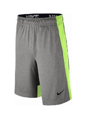Nike B Nk Dry Short Pantalón Corto, niños, Gris (Grey Heather/Ghost Green/Black), XS