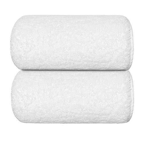 Graccioza Egoist Bath Sheet (41' x 72') - White - Made in Portugal, 800-GSM, 100% Egyptian Giza Cotton