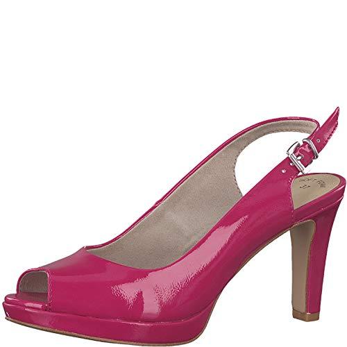 s.Oliver Damen Sling-Pumps 29602-20,Frauen Slingback Pumps,modisch,Fashion,Fuxia PATENT,40 EU