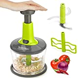 Smile Mom Hand Push Vegetable Chopper, Cutter, Mixer Set (1100 ML) for Kitchen