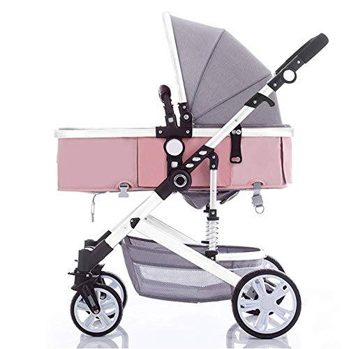 For Sale! Infant Baby Stroller for Newborn and Toddler - Convertible Bassinet Stroller Compact Singl...