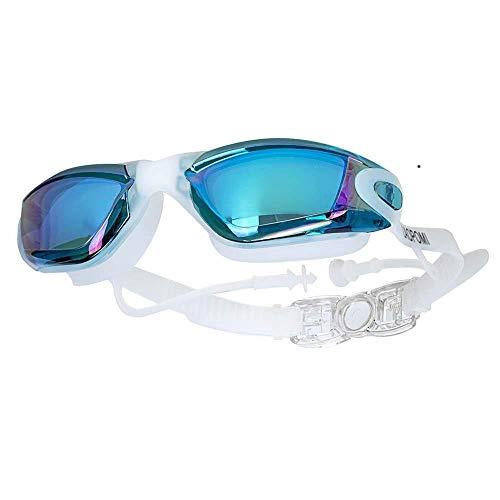 LCBYOG Gafas de natación EARPLUG Anti Niebla Silicona Nadar Piscina Gafas Hombres Mujeres Eyewear Verano Agua Agua Enchufe Gafas de Buceo Gafas De NatacióN (Color : Green)