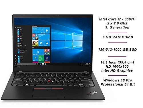 Lenovo ThinkPad X1 Carbon | Intel i7 | 2.0 GHz | 8 GB | 180 GB SSD | 14.1 Zoll | HD 1600x900 | Web Cam | Windows 7 Pro | 1F4 (Generalüberholt)